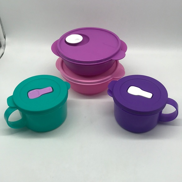 Tupperware Crystal Flash Containers Set of 4
